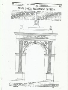 PORTA REALE in POLIOREAMA  PITTORESCO 1843