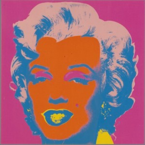 Marilyn Monroe, 1967, screenprint on paper. Collezione Rosini-Gutman